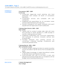 Catering Manager Resume Catering Resume