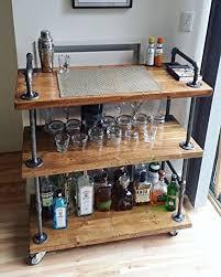 amazon com wgx wood and metal wine rack with wheels kicthen bar
