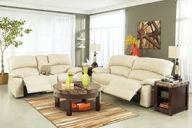Power Sofa Recliners Leather by Damacio Cream Glider Power Reclining Loveseat With Console From
