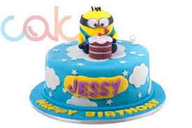 minions birthday cake odc162 minion themed fondant birthday cake cake square chennai