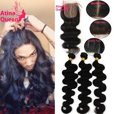 top closure 7a silk base closure with bundles peruvian hair wave