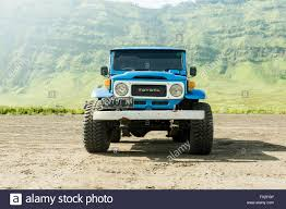 jeep indonesia java indonesia march 24 2016 blue 4x4 jeep for tourist at