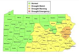 Map Of Counties In Pennsylvania by Drought Information