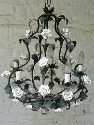 porcelain chandelier roses vintage chandelier porcelain antique chandelier 3 light