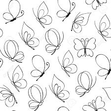 simple butterfly pattern vector illustration royalty