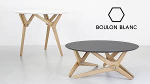 Table Ronde Extensible Blanche by Table Modulable Basse Haute Par Boulon Blanc Notre Loft Youtube