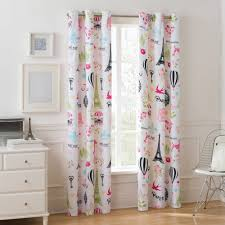Single Window Curtain by Mainstays Room Darkening Paris Single Girls Bedroom Curtain Panel