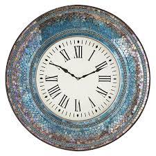 Clock Designs by Cool Mosaic Wall Clock 104 Mosaic Wall Clock Pier 1 Amber Crush