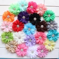 flowers for headbands 7cm chiffon flowers fabric flowers for headbands kids hair flower