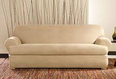 Sure Fit T Cushion Sofa Cover Photo Of Ultimate Heavyweight Stretch Suede Individual 3 Piece T