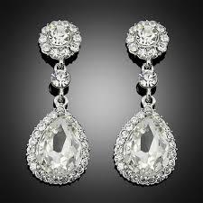 rhinestone chandelier earrings chandelier earrings platinum rhinestone silver drop earrings for