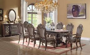 11 dining room set mcferran home furnishings d3500 11 duble pedestal dining