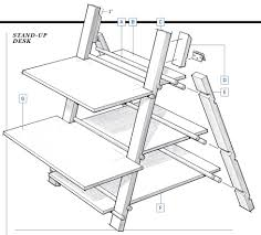 Stand Up Sit Down Desk by Build Your Own Stand Up Desk 55 Fascinating Ideas On Diy Stand Up