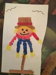 scarecrow handprint crafts with kids pinterest scarecrows