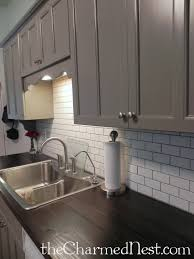 exellent white tile backsplash with grey grout view full size design