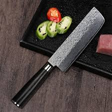 high carbon steel kitchen knives professional vegetable cleaver 7 inch high carbon vg10