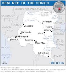 Republic Of Congo Map Democratic Republic Of The Congo Reliefweb