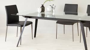 Glass Dining Table 6 8 Seater Glass Dining Table Black Powder Coated Legs