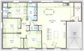 plan maison 4 chambre plan maison plain pied en l 4 chambres 120m2 9 lzzy co