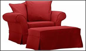 ottoman red leather club chair and ottoman red chair and a half