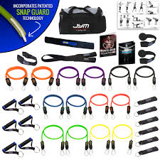 bodylastics 34 pcs jym strength bands system clips 404 lbs