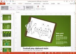 free powerpoint football playbook template animated football