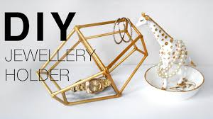 golden giraffe ring holder images Diy easy necklace bracelet jewellery holder room decor jpg