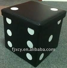 folding pu storage ottoman box dice design buy storage box