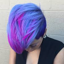 short cut tri color hair 20 blue and purple hair ideas
