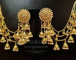 fashion jewelry gold necklace images Indian jewelry etsy jpg