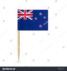New Zealand Stars On Flag Flag New Zealand Toothpick On White Stock Vector 536776981