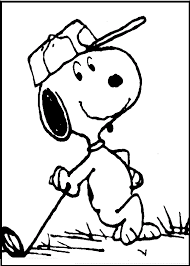 snoopy playing golf coloring pages for kids fyz printable