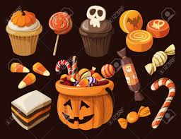 halloween vectors set of colorful halloween sweets and candies icons royalty free