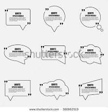 Business Card Sheet Template Quote Speech Bubble Vector Design Template Stock Vector 371074928