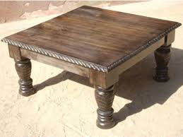 rustic square coffee table coffee tables thippo