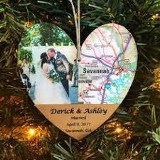 personalized wedding ornament honeymoon gift wedding map