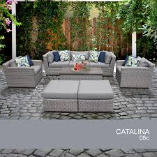 catalina 8 piece outdoor wicker patio furniture set 08c walmart com