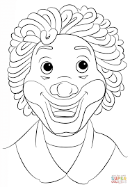 clown face coloring page free printable coloring pages