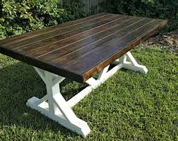 Cheap Picnic Benches Farmhouse Table Etsy