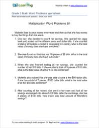 grade 3 multiplication word problem worksheets k5 learning