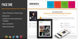 Single Page Resume Template Legion One Page Resume Responsive Html Template By Wpamanuke