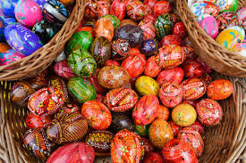 easter egg display easter market in poland photos and images getty images