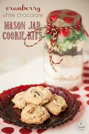 cranberry white chocolate jar cookie kits self proclaimed