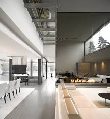 Modern Minimalism Minimalist House Interior Design Monochromatic Living Room25