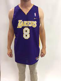 vintage la lakers kobe bryant 8 basketball jersey xl