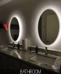 bathroom cozy white framed bathroom mirror with wall light