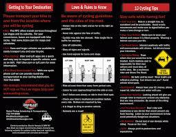 Las Vegas Traffic Map Bike Blast Safety Guide Bike Blast Las Vegas
