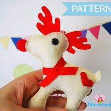 reindeer pattern felt reindeer ornament sewing pattern pdf