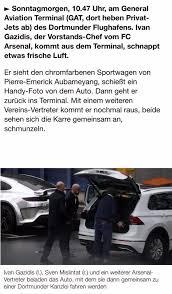 Si E Auto R Er Ivan Gazidis Sven Mislintat Huss Fahmy And Aubameyang S Car