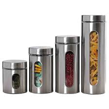 kitchen canisters stainless steel wayfair basics wayfair basics 4 stainless steel kitchen